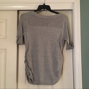 NWT Apt. 9 Gray Short Sleeve Knit Sweater